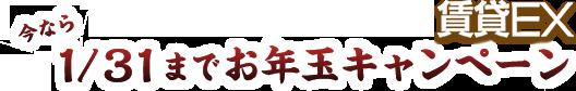 賃貸EX 今なら1/31までお年玉キャンペーン